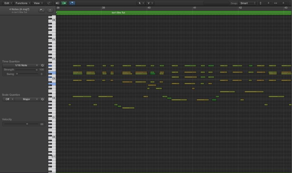 MIDI logic edit